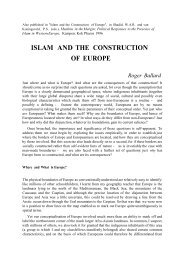 Islam and the Construction of Europe