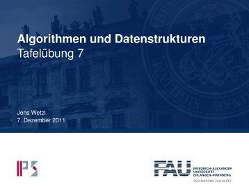 Algorithmen und Datenstrukturen Tafelübung 7