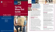 Spring Move-Out Brochure 2013 - Panther Central - University of ...