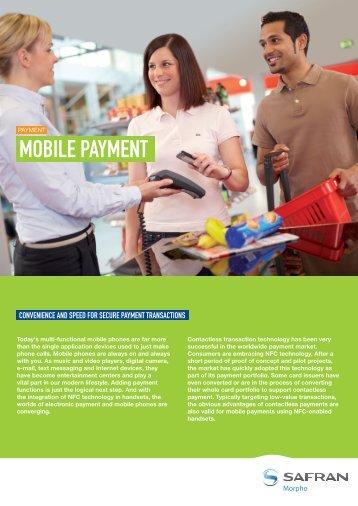 Mobile Payment brochure - Morpho