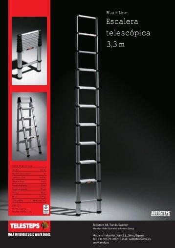 Escalera telescópica 3,3 m - Construnario.com