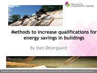 Videncenter for energibesparelser i bygninger - Ea Energianalyse