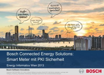 Smart Metering Plattform mit PKI Security - Energieinformatik 2013