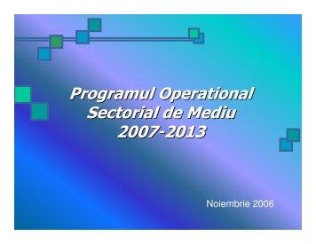 Programul Operational Sectorial de Mediu 2007-2013 - Meridian
