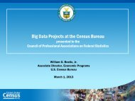 Big Data Projects at the Census Bureau - Council of Professional ...