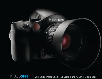 Phase One IQ Digital backs & 645DF Camera Manual - Specular