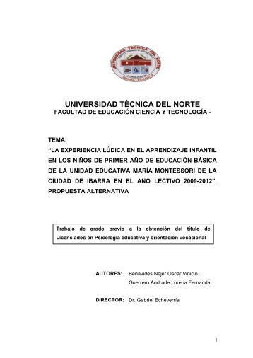 UNIVERSIDAD TÉCNICA DEL NORTE - Repositorio UTN