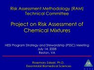 Project on Risk Assessment of Chemical Mixtures