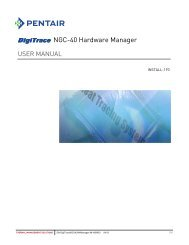 NGC-40 Hardware Manager - Pentair Thermal Management