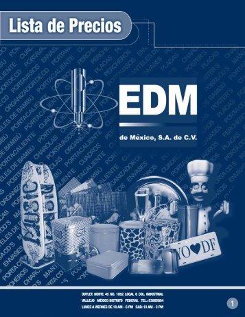 Lista de precios del Outlet de EDM de México S.A. de C.V.