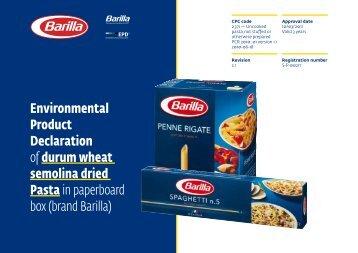 brand Barilla - The International EPD® System