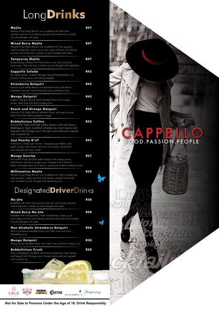 Cocktails - Cappello