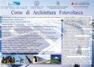 Corso di Architettura Fotovoltaica - Ordine degli Architetti