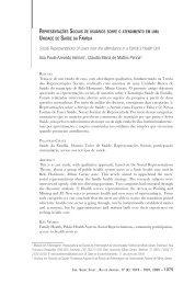 Representações Sociais de usuários sobre o ... - IESC/UFRJ