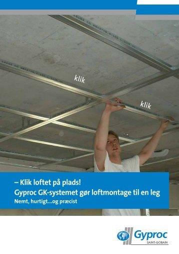Gyproc GK lofter i en fart - Download pdf