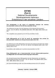 ERTMS (Part 2) National Developments Développements ... - UIC