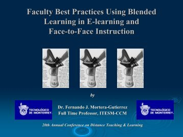 Faculty Best Practices Using Blended Learning in E-learning and ...