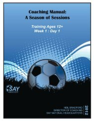 Training Ages 12+ Week 1 : Day 1