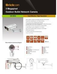 3 Megapixel Outdoor Bullet Network Camera - Camera Megapixels