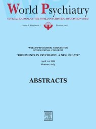 ABSTRACTS - World Psychiatric Association