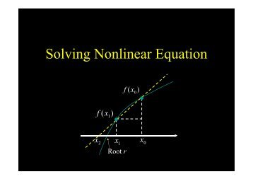 Solving Nonlinear Equation