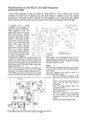 Modifications to the RA17L for SSB Reception - VMARSmanuals