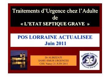 POS SEPSIS GRAVE JUIN 2011 - COLMU