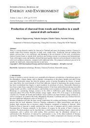 Production Of charcoal - International Journal of Energy and ...