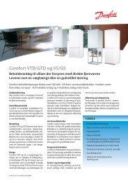 Comfort VTD/GTD og VS/GS - Danfoss Redan A/S