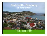 State of the Economy Sept 2012 - City of St. John's