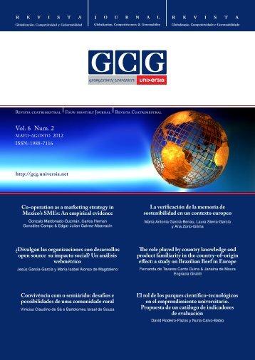 Vol. 6 Num. 2 - GCG: Revista de Globalización, Competitividad y ...