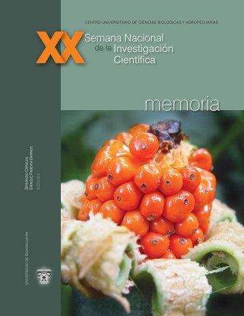 memoria - Centro Universitario de Ciencias Biológicas y ...