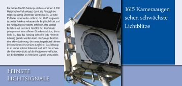 Die MAGIC-Teleskope - Max-Planck-Institut für Physik