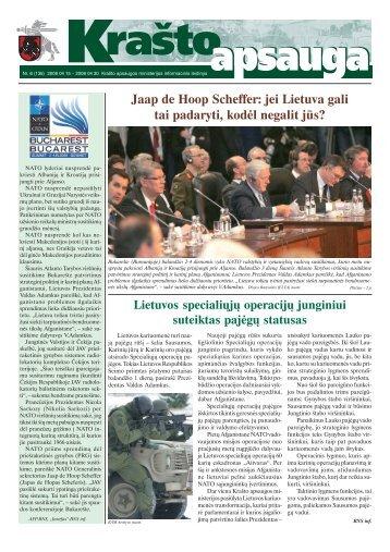 Jaap de Hoop Scheffer: jei Lietuva gali tai padaryti, kodėl negalit jūs?