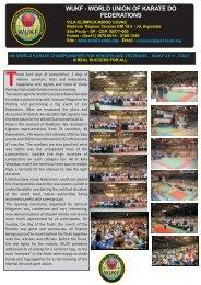 WUKF Bulletin 20 - WUKF - World Union of Karate-Do Federations