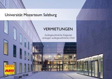 Informationsbroschüre - Mozarteum