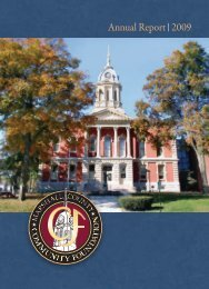Annual Report 2009 - Marshall County Community Foundation