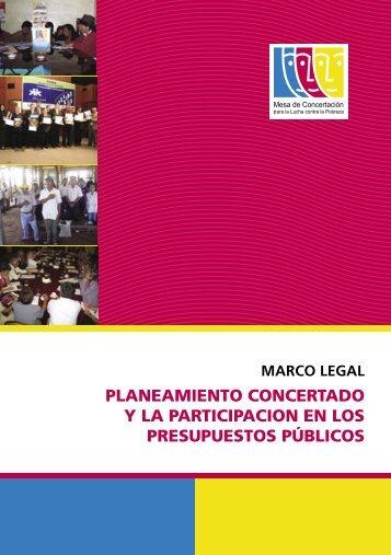 Marco Legal. Planeamiento Concertado y La Participación en los ...