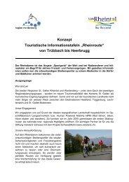 Konzept Touristische Informationstafeln - Region Werdenberg