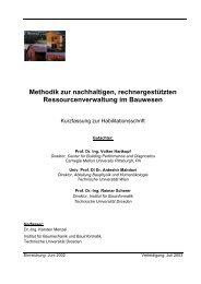 Methodik zur nachhaltigen, rechnergestützten ...