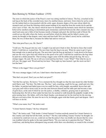 a comparison of the two stories barn burning and pauls case A comparison of two characters in a rose for emily and barn burning in a rose for emily and barn burning, william faulkner creates two characters worthy of comparison emily grierson, a recluse from jefferson, mississippi, is an important figure in the town, despite spending most of her life in seclusion.