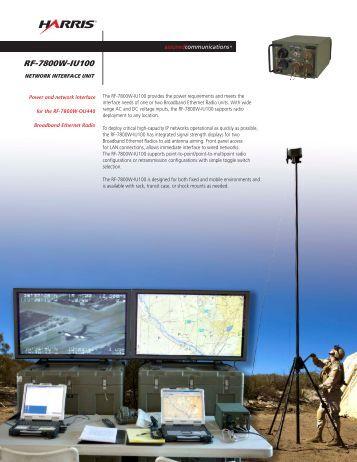 RF-7800W-IU100 Network Interface Unit Datasheet - Harris RF ...