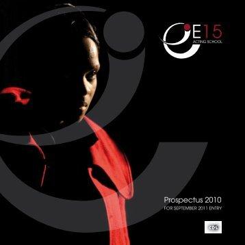 Prospectus 2010 - East 15 Acting School