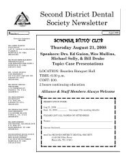 SEPT. 08 newsletter - Second District Dental Society