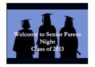 Senior Parent Night PowerPoint - Oconee County Schools