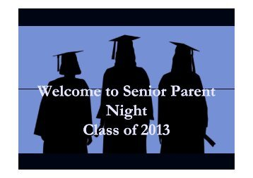 Senior Parent Night PowerPoint - Oconee County Schools