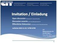 Open discussion following the CIT - Das CIT