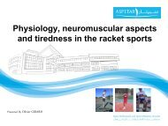 Physiology, neuromuscular aspects and tiredness in the ... - Sport24h
