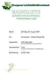 Datum: Samstag, 25. August 2007 Ort: Kreuzlingen – Stadion ...