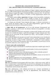MOZIONE DEL COLLEGIO DEI DOCENTI DEL CIRCOLO ...